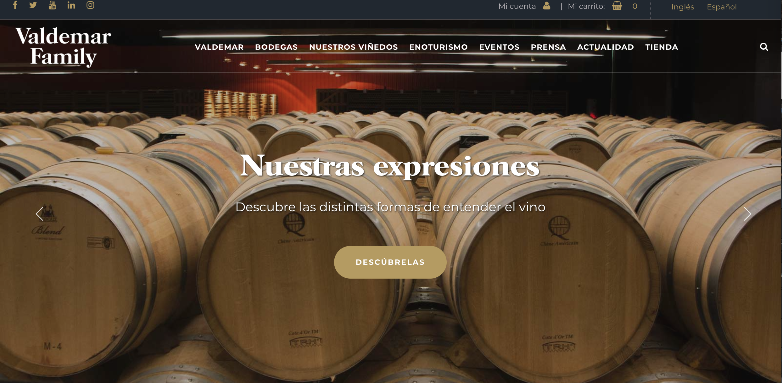 Las distintas formas de entender el vino de Bodegas Valdemar